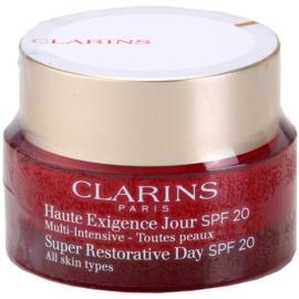 Clarins Super Restorative denní liftingový krém proti vráskám pro všechny typy pleti SPF 20  50 ml