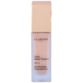 Clarins Face Make-Up Everlasting fard lichid de lunga durata SPF 15 culoare 107 Beige  30 ml