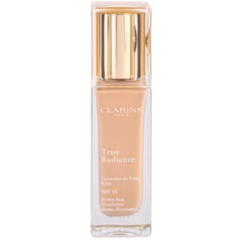 Clarins Face Make-Up True Radiance machiaj de stralucire si hidratare pentru un look perfect SPF 15 107 Beige  30 ml
