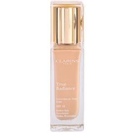 Clarins Face Make-Up True Radiance rozjasňující hydratační make-up pro dokonalý vzhled SPF 15 107 Beige  30 ml