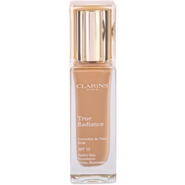 Clarins Face Make-Up True Radiance machiaj de stralucire si hidratare pentru un look perfect SPF 15 110,5 Almond  30 ml