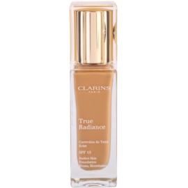 Clarins Face Make-Up True Radiance озаряващ хидратиращ фон дьо тен за съвършен вид SPF 15 114 Cappuccino  30 мл.