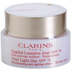 Clarins Vital Light Crema de zi de întinerire pentru toate tipurile de ten SPF 15  50 ml