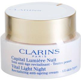 Clarins Vital Light rewitalizujący krem na noc do wszystkich rodzajów skóry  50 ml