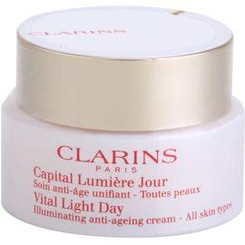 Clarins Vital Light omlazující a rozjasňujíci denní krém pro všechny typy pleti  50 ml