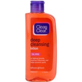 Clean & Clear Deep Cleansing hloubkově čisticí pleťová voda  200 ml