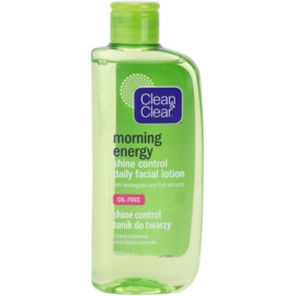 Clean & Clear Morning Energy mattító arcvíz Shine Control Daily Facial Lotion 200 ml