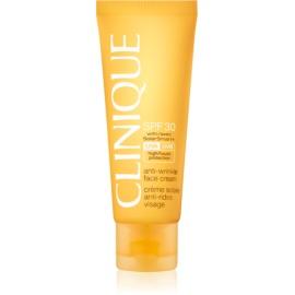 Clinique Sun creme bronzeador para rosto com efeito antirrugas SPF30  50 ml