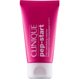 Clinique Pep-Start peelingový čisticí gel 2 v 1  30 ml
