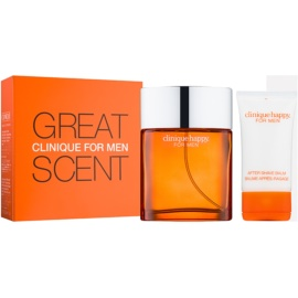 Clinique Happy for Men Geschenkset I. Eau de Cologne 100 ml + After Shave Balsam 50 ml
