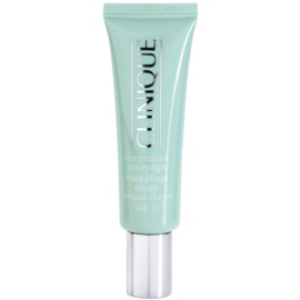 Clinique Continuous Coverage base para pele seca e mista tom 01 Porcelain Glow SPF 15 30 ml