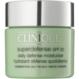 Clinique Superdefense™ krem nawilżająco-ochronny na dzień do skóry tłustej i mieszanej SPF 20  75 ml