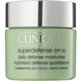 Clinique Superdefense™ денний зволожуючий та захисний крем для комбінованої та жирної шкіри SPF 20  75 мл