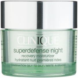 Clinique Superdefense™ Crema de noapte hidratanta anti-rid pentru ten mixt si gras  50 ml