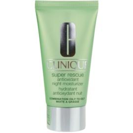Clinique Super Rescue™ creme hidratante de noite para pele mista e oleosa  50 ml