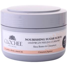Clochee Simply Organic cukrový peeling na tělo  250 ml