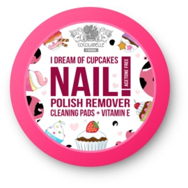 Cocolabelle Fruit Scented & Fabulous Nails вологі диски для зняття лаку I Dream of Cupcakes  50 кс