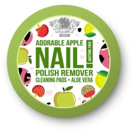 Cocolabelle Fruit Scented & Fabulous Nails вологі диски для зняття лаку Adorable Apple  50 кс