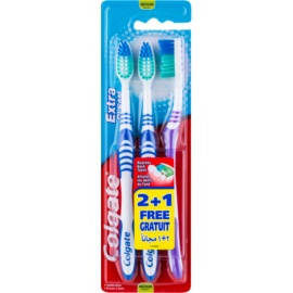 Colgate Extra Clean Zahnbürste Medium 3 pc