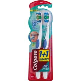 Colgate 360°  Whole Mouth Clean zubné kefky soft 2 ks