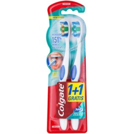 Colgate 360°  Whole Mouth Clean zubní kartáčky medium 2 ks