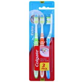 Colgate Extra Clean зубні щіточки medium 3 шт