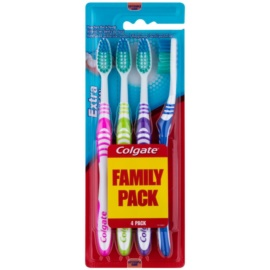 Colgate Extra Clean zubní kartáčky soft 4 ks
