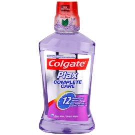 Colgate Plax Complete Care Mundwasser für den kompletten Schutz Ihrer Zähne Geschmack Clean Mint (Alcohol Free, 12 Hour Protection) 500 ml