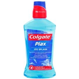 Colgate Plax Ice Splash антибактеріальна рідина для полоскання ротової порожнини для свіжого подиху присмак Cooling Mint  500 мл