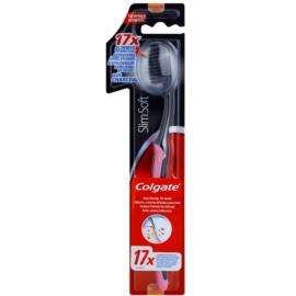 Colgate Slim Soft Charcoal zubní kartáček s aktivním uhlím soft