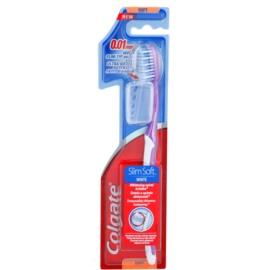 Colgate Slim Soft White zubní kartáček s cestovní krytkou soft