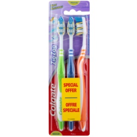 Colgate Zig Zag escovas de dentes média 3 pçs