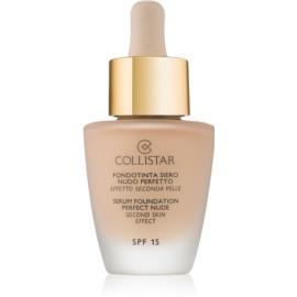 Collistar Foundation Perfect Nude posvetlitveni tekoči puder za naraven videz SPF 15 odtenek 1 Ivory 30 ml