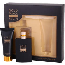 Concept V Gold Black σετ δώρου Ι.  Eau de toilette 100 ml + βάλσαμο για μετά το ξύρισμα 100 ml