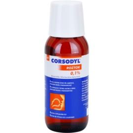 Corsodyl Solution 0,1% kivonat a szájüreg kezelésére gyulladás, fogínyvérzés és parodontózis esetén  200 ml