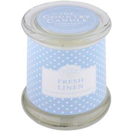 Country Candle Fresh Linen vonná sviečka   v skle s viečkom