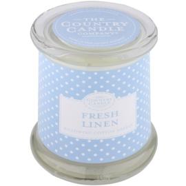 Country Candle Fresh Linen ароматизована свічка    в скляному стакані з кришечкою