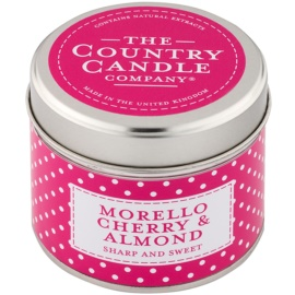 Country Candle Morello Cherry & Almond vonná svíčka   v plechovce
