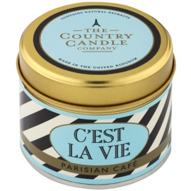 Country Candle Parisian Café Scented Candle   in Tin
