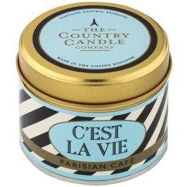 Country Candle Parisian Café vonná svíčka   v plechovce