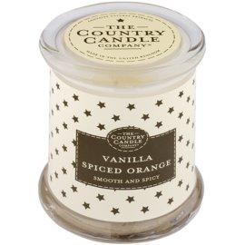 Country Candle Vanilla Spiced Orange vonná svíčka   ve skle s víčkem