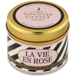 Country Candle Wild Lime & Rose Tea Duftkerze    in Blechverpackung