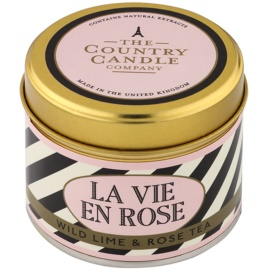 Country Candle Wild Lime & Rose Tea vonná svíčka   v plechovce