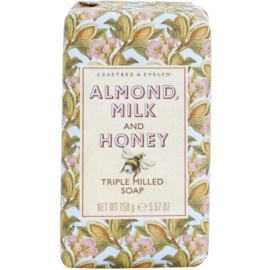 Crabtree & Evelyn Almond Milk & Honey feuchtigkeitsspendende Seife  158 g