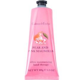 Crabtree & Evelyn Pear & Pink Magnolia Feuchtigkeitscreme für die Hände  100 g