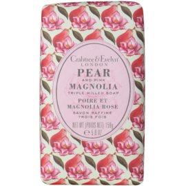 Crabtree & Evelyn Pear & Pink Magnolia tuhé mýdlo s hydratačním účinkem  158 g