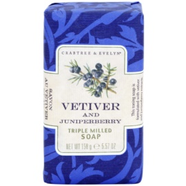 Crabtree & Evelyn Vetiver & Juniperberry luxuriöse Seife mit Vetiver und Wacholder  158 g