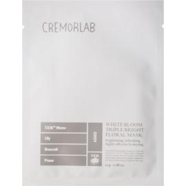 Cremorlab White Bloom rozjasňující plátýnková maska s bílými květy  25 g