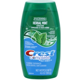 Crest Complete Herbal Mint Whitening+ Zahngel Geschmack Herbal Mint 130 g