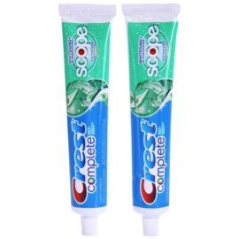 Crest Complete Scope Whitening+ fogkrém fehérítő hatással íz Minty Fresh Striped 2 x 175 g